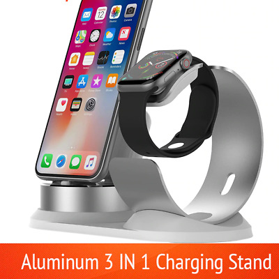 $ CDN15.79 • Buy 3in1 Aluminum Charger Stand Charging Dock Station For Apple Watch Airpods Iphone