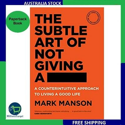 AU26.99 • Buy The Subtle Art Of Not Giving A Fck F*ck F * Ck Fuck FREE SHIPPING Paperback Book