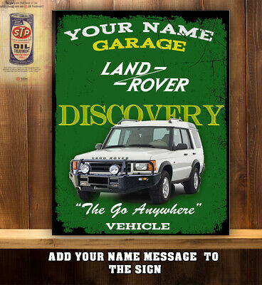 PERSONALISED LAND ROVER DISCOVERY SIGN CAR GARAGE WORKSHOP SHED Vintage RS80 • 11.95£