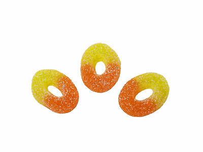 Kingsway Peach Rings Jelly Gum Sweets Halal Vegetarian Candy Retro Gift Gummy • 3.99£