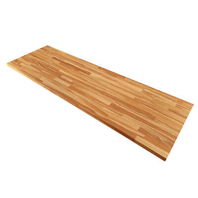 Farmhouse Oak Worktops, Solid Wood 40mm Stave Rustic Timber Kitchen Surfaces • 14.99£