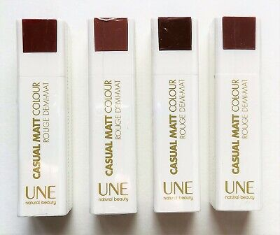 £3.99 • Buy Une Natural Beauty Casual Matt Colour Lipstick Nude Brown Shades