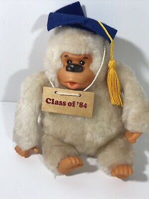$ CDN24.17 • Buy Vintage Russ Berrie Gonga Ape Graduation Gift Class Of '84 Monkey Stuff Toy