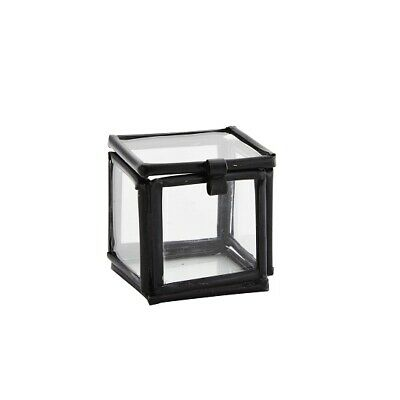 £8.55 • Buy Decorative Small Black Glass Display Box Square For Rings Design By Madam Stoltz