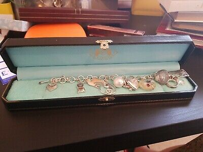 Stunning Juicy Couture Charm Bracelet With With Original Box With 13 Charms... • 50£