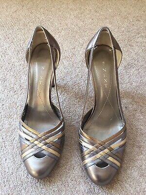 Size 4 Silver/pewter/gold Court Shoes From NEXT • 9.99£