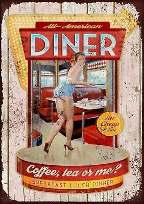 £7 • Buy All American Diner Metal Wall Sign