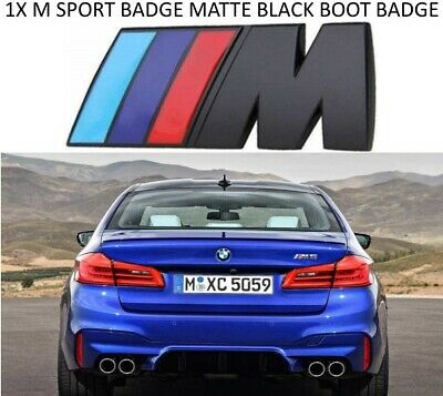 AU11.65 • Buy 1x Black M Sport Metal Replacement Bmw Logo Badge Boot Sticker M2 M3 M4 M5 M6