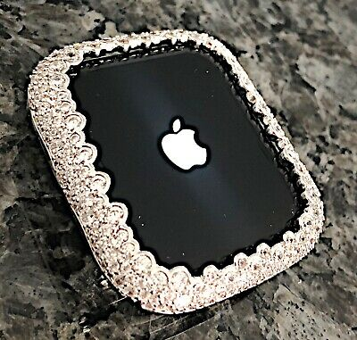 $ CDN80.16 • Buy  Series 2/3 42mm Silver Lab Diamond Apple Watch Bezel Case Cover Metal Iwatch