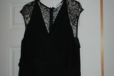 £25 • Buy Kaliko Black Dress With Lace Shoulders - Size 20 - Brand New With Tags RRP£99