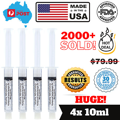 AU19.99 • Buy Matrix Whitening Teeth Bleaching Gel Syringes 4x10ML 18%CP - Made In The USA