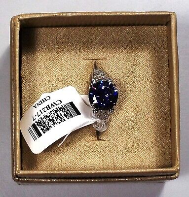 $38 • Buy Sterling Silver Gem Ring JTV  Size 7 Charles Winston Sim Tanz And Dia  7-27s