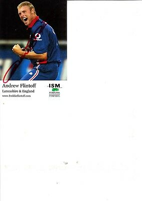 Andrew Freddie Flintoff Hand Signed Colour Promo Card 6 X 4 Inch • 19.99£