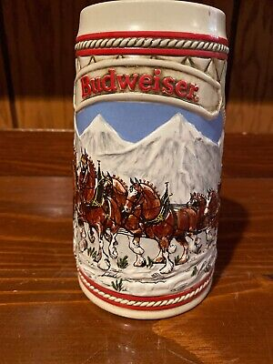 $ CDN13.03 • Buy 1984 Budweiser  Snow Covered Bridge  Stein