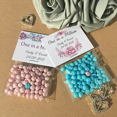 10 X Personalised Millions Sweet Favours Thank You Gift Wedding Christening DIY • 1.95£
