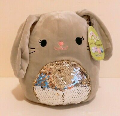 $ CDN25.14 • Buy Kellytoy Squishmallows 2020 Easter 8  Blake Grey Bunny Flip Sequin Plush Doll