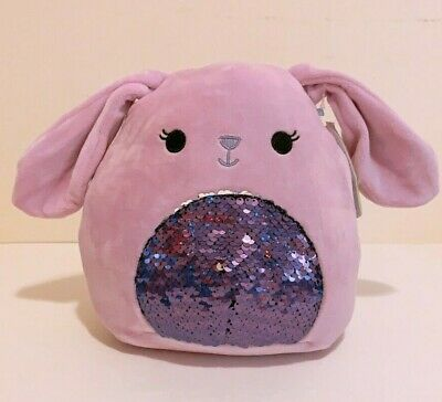 $ CDN25.14 • Buy Kellytoy Squishmallows 2020 Easter 8  Bubbles Purple Bunny Sequin Plush Doll