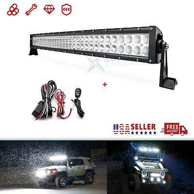$52.99 • Buy Super Bright 32  180W LED Offroad Work Light Bar Wiring Combo Beam Driving Lamp