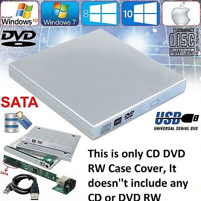 £7.89 • Buy USB To SATA Laptop CD DVD Combo RW Rom Drive External Caddy Enclosure Case Cover