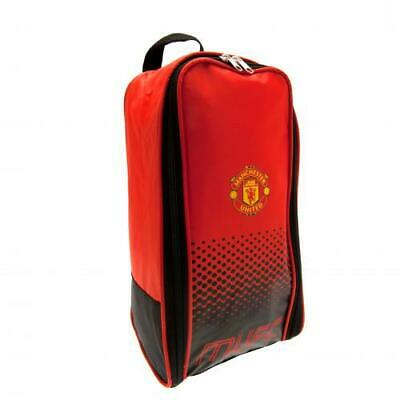 Manchester United Fc Official Crest Boot/shoe Bag - Football Gift (school) • 11.99£