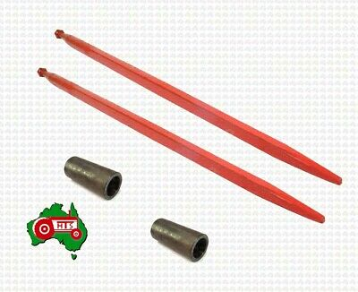 AU279.49 • Buy 2 X Tractor Loader Tine Kit Straight Conus 2 1250mm Bale Hay Silage Forks Spear