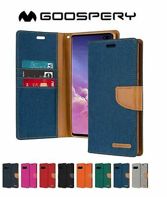 AU11.39 • Buy Wallet Case For Galaxy S10 Plus S9 S8 Plus Flip Fabric Stand Canvas Cover