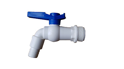 Plastic Water Butt /water Tank Outlet Tap With 3/4  Bspm Thread, • 5.49£