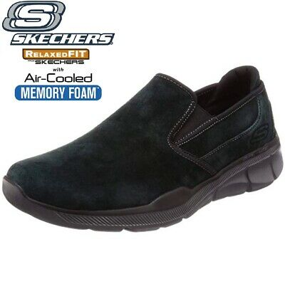 Skechers Equalizer 3.0 Substic Men's Slippers Moccasin Slip On Leather Black  • 36.95£