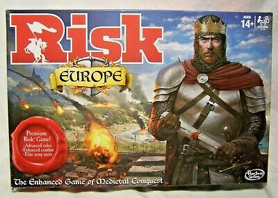 $29.95 • Buy Hasbro 2015 Risk Europe The Enhanced Board Game Of Medieval Conquest Complete