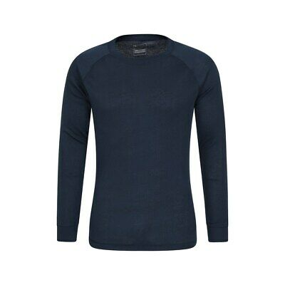 Mountain Warehouse Mens Long Sleeved Round Neck Top Thermal Baselayer Breathable • 12.99£