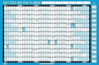 2020-2021 A1/A2 Academic Mid Year Wall Planner Calendar With Pen Stickers 20/21 • 3.99£