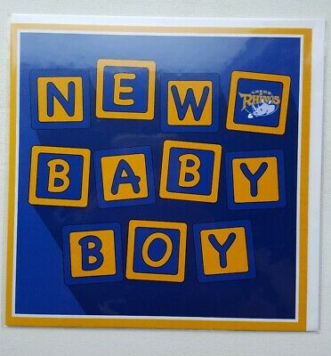 Official Leeds Rhinos - New Baby Boy Card - Brand New (Rugby League)  • 1.49£