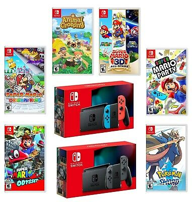 $ CDN459.99 • Buy Nintendo Switch New Enhanced Battery Model Bundle With Choice Of Game Brand New