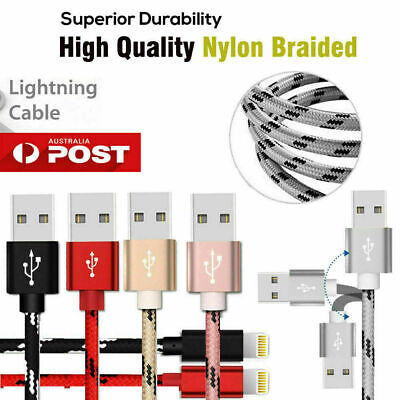 AU4.99 • Buy USB Lightning Charger Cable Data Cord Apple IPhone XR XS Max X 7 8 6 11 Pro IPad