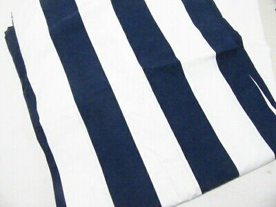 $66 • Buy Pottery Barn Classic Wide Stripe Navy Blue White Nautical Twin Duvet Cover