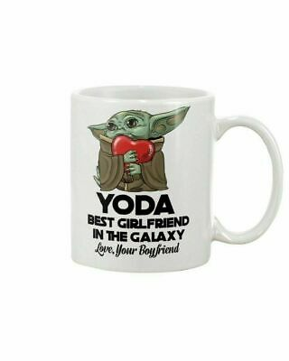 $12.99 • Buy Baby Yoda Best Girlfriend In The Galaxy Couple Valentine Gift Mug Best Gift 11oz