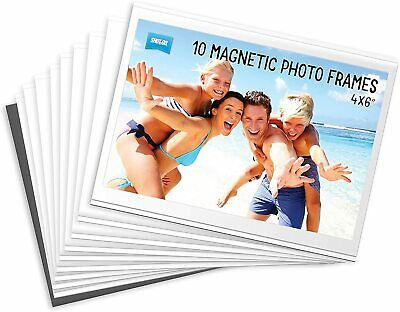 AU19.99 • Buy 10 Pack Shot2Go Magnetic Picture Photo Fridge Frames (Holds A 6x4 Inch Photo)
