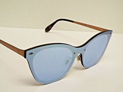 $65.99 • Buy Ray-Ban RB3580N 9039/1U Blaze Cat Eye Copper Silver Mirror Sunglasses $248