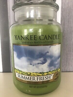 """Yankee Candle Retired /""""FIRESIDE/"""" ~ Large 22 oz ~ Retired WHITE LABEL ~ RARE ~NEW"""