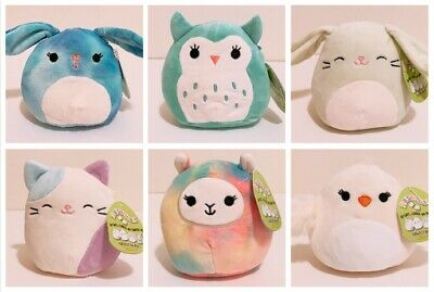 $ CDN59.56 • Buy Set Of 6 Kellytoy Squishmallows 2020 Easter Collection 5  Mini Plush Dolls