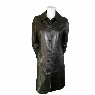 $ CDN100 • Buy Danier Black Leather Coat With Polyester Fill Size 2XS