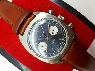 $ CDN826.60 • Buy Vintage Kelek Chronograph Valjoux 7733 Perfect Condition Swiss Men's Rare Dial