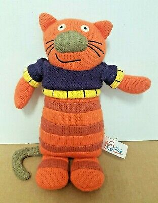 LATITUDE ENFANT - KNITTED SACHA THE CAT SOFT TOY - Wooly Family - 9.5  • 9.95£