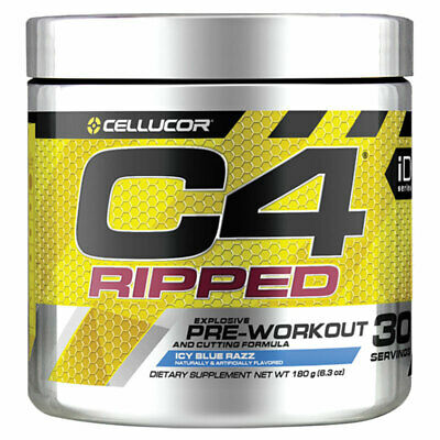 AU52.99 • Buy Cellucor C4 Ripped Icy Blue Razz 30 Serve