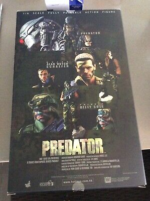 AU600 • Buy Hot Toys 1/6 Predator Mms73 Private Billy Sole Movie Masterpiece Action Figure