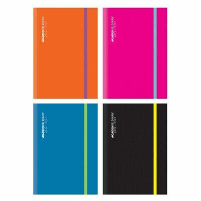 2020-2021 A4/A5 Academic Student Teacher One Week To View Diary Casebound Cover • 4.59£
