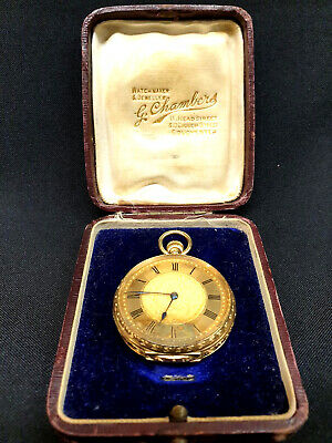 Omega Solid Gold 18ct Lady's Hallmarked Pocket Watch 1901 Original JewellersBox • 7,495£
