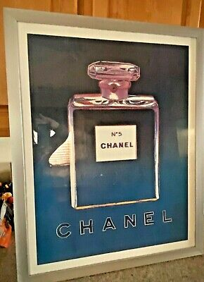 $450 • Buy 1997 Andy Warhol Chanel No 5 French Perfume Pop Art Vintage Poster 22x28 Framed