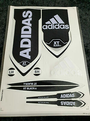 3d/embossed Adidas Xt Black Elite Cricket Bat Sticker +1 2d Sticker Free • 11.49£