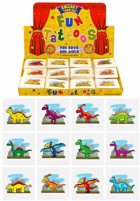 £0.99 • Buy 12 Dinosaur Temporary Tattoos - Pinata Toy Loot/Party Bag Fillers Childrens/Kids